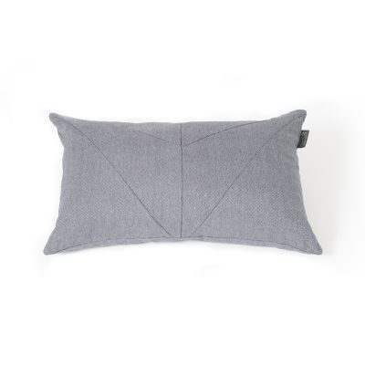 Snuggles & Stitches Rectangular Pillow Blue-Grey