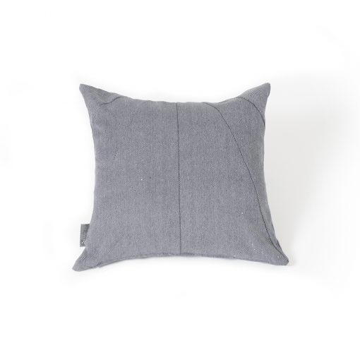 Snuggles & Stitches Square Pillow Blue-Grey