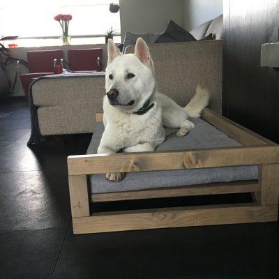 Woodz Lounge houten hondenmand